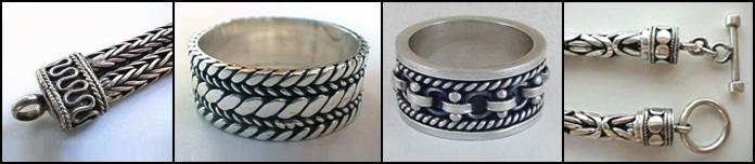 Balinese Silver – unique chains & arabesques